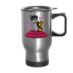 Allie, First at Last - Secret Cat with Trophy - Travel Mug