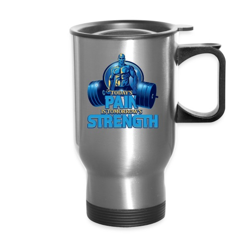 Heavy Lifting Man - Travel Mug