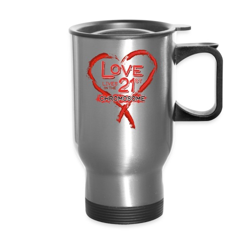 Down Syndrome Love (Red) - Travel Mug