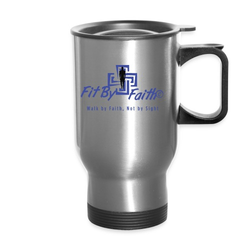 FitbyFaith back png - Travel Mug