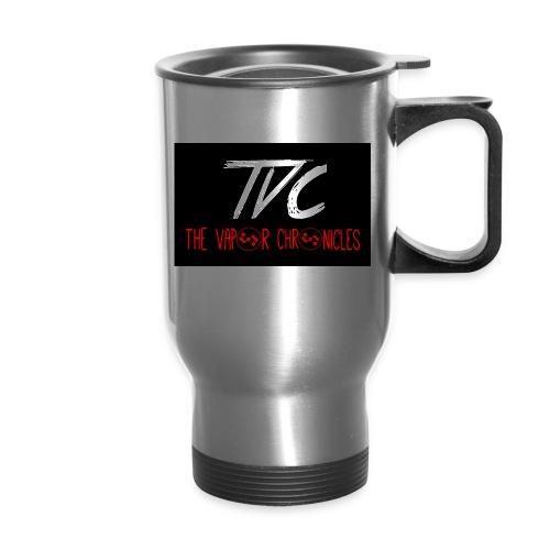 TVC Simple Red jpg - Travel Mug with Handle