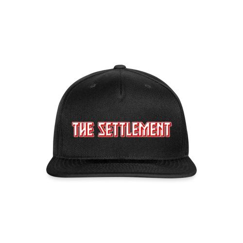 Band Name (Two-Color) | The Settlement - Snap-back Baseball Cap