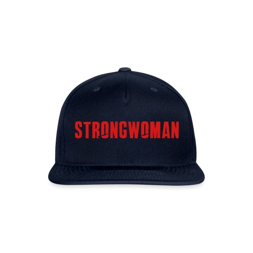 strongwoman horiz - Snapback Baseball Cap