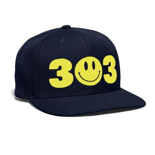 3 Smiley 3 - Snapback Baseball Cap