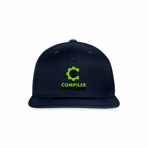 Logo and text - Snapback Baseball Cap