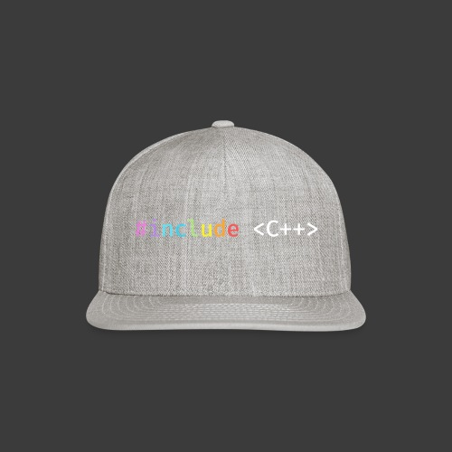 Rainbow Include C++ - Snap-back Baseball Cap
