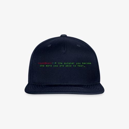 Kali Terminal Slogan - Snapback Baseball Cap