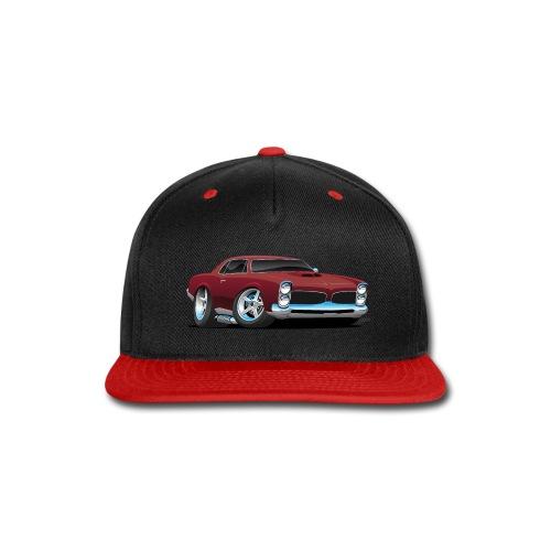 Classic American Muscle Car Cartoon - Snap-back Baseball Cap