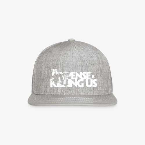 Suspense Is Killing Us White Logo - Snap-back Baseball Cap