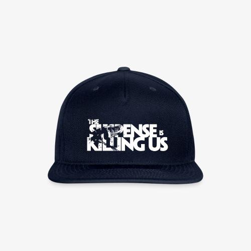 Suspense Is Killing Us White Logo - Snapback Baseball Cap