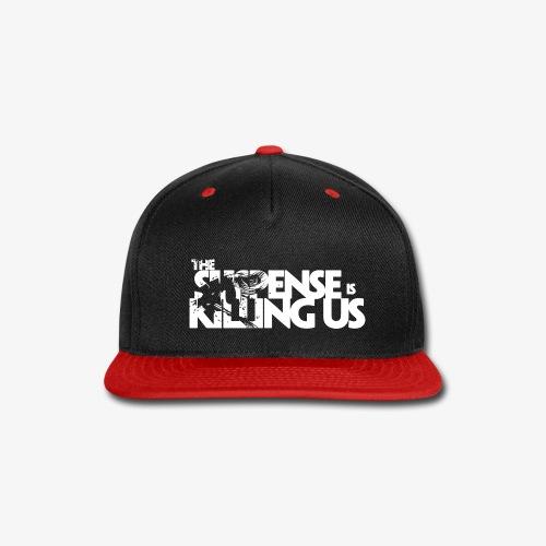 Suspense Is Killing Us White Logo - Snap-back Baseball Cap