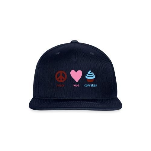 peacelovecupcakes pixel - Snap-back Baseball Cap