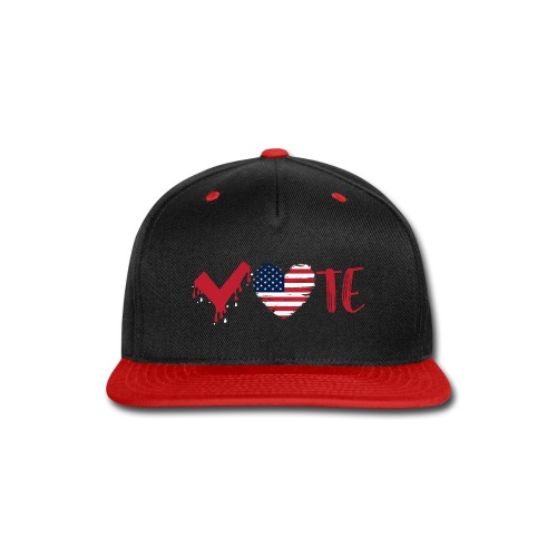 vote heart red - Snap-back Baseball Cap