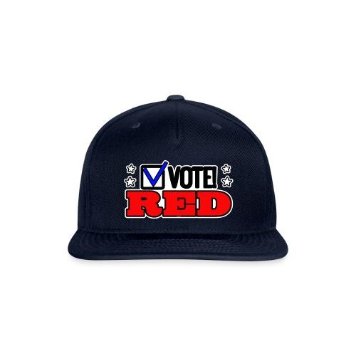 VOTE RED - Snapback Baseball Cap