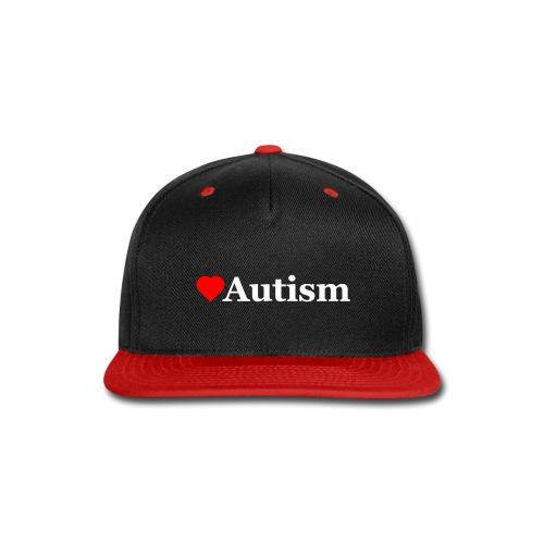 Heart Autism w - Snap-back Baseball Cap