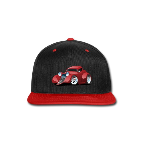 Red Hot Rod Restomod Custom Coupe Cartoon - Snap-back Baseball Cap