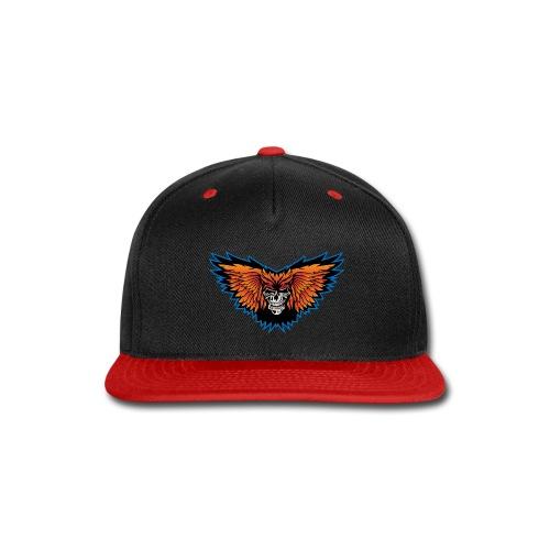 Winged Skull Illustration - Snap-back Baseball Cap