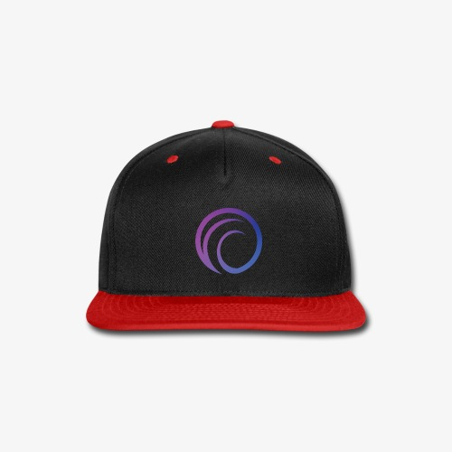 DJPR logo graphic gradient - Snap-back Baseball Cap