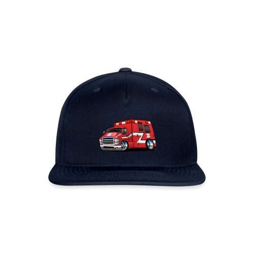 Paramedic EMT Ambulance Rescue Truck Cartoon - Snapback Baseball Cap