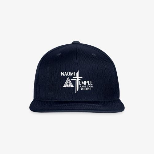 Naomi Temple All-white Logo - Snapback Baseball Cap