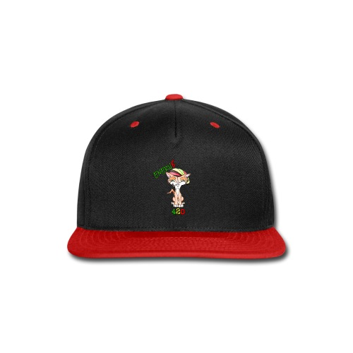 Enerv8 420 Cool Hippie Cat Logo - Snap-back Baseball Cap