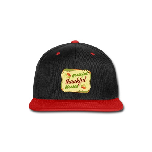 grateful thankful blessed - Snap-back Baseball Cap