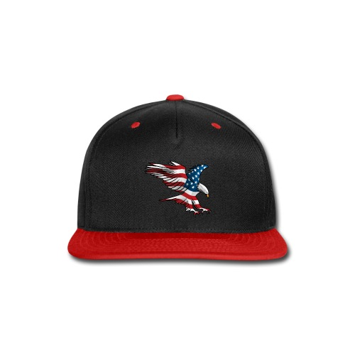 Patriotic American Eagle - Snap-back Baseball Cap