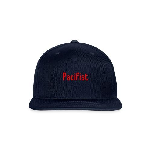 Pacifist T-Shirt Design - Snapback Baseball Cap