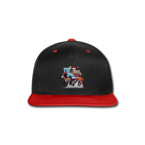 Hot Rod Santa Christmas Cartoon - Snap-back Baseball Cap
