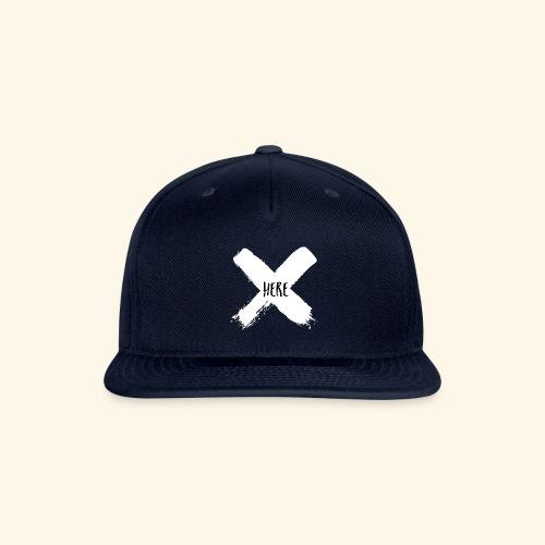 White X - Snapback Baseball Cap