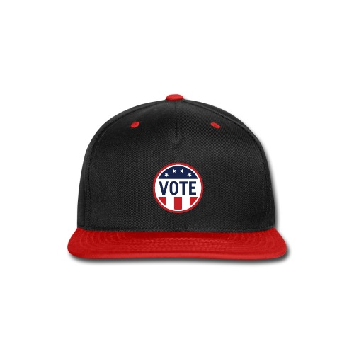 Vote Red White and Blue Stars and Stripes - Snap-back Baseball Cap