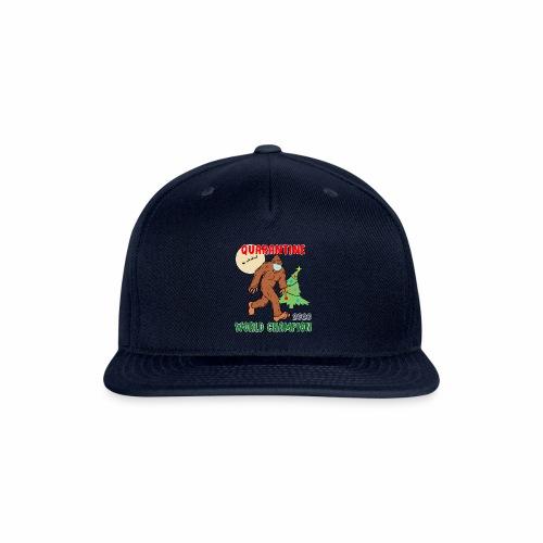 Quarantine World Champion Sasquatch Mask Christmas - Snap-back Baseball Cap