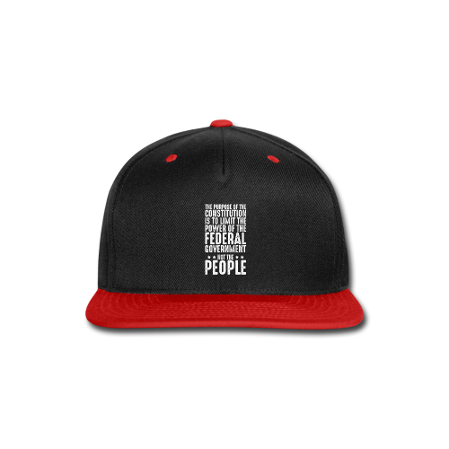 Purpose Of The Constitution - Snap-back Baseball Cap