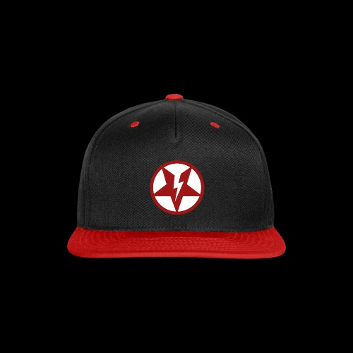 DEAD@17 Broken Pentagram - Red on White - Snap-back Baseball Cap