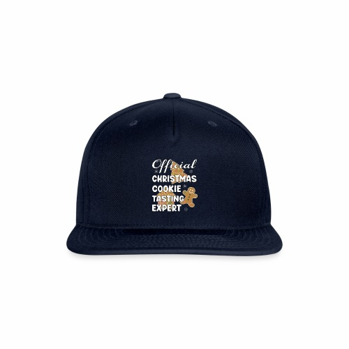 Funny Official Christmas Cookie Tasting Expert. - Snap-back Baseball Cap