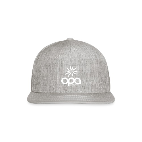 Short Sleeve T-Shirt with small all white OPA logo - Snap-back Baseball Cap