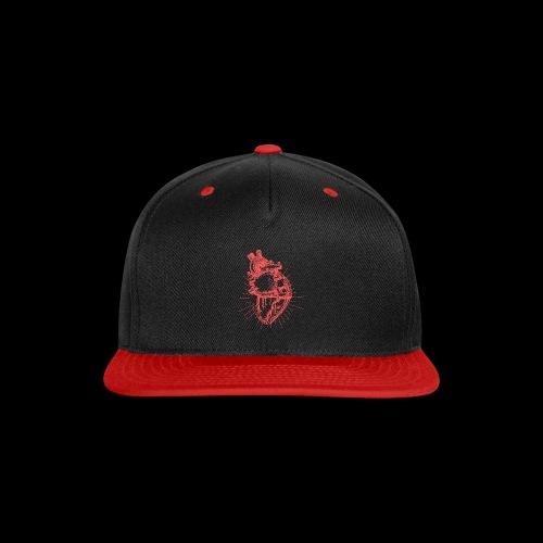 Hand Sketched Heart - Snap-back Baseball Cap
