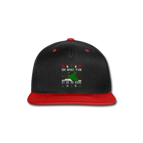 Oh What Fun Snowmobile Ugly Sweater style - Snap-back Baseball Cap