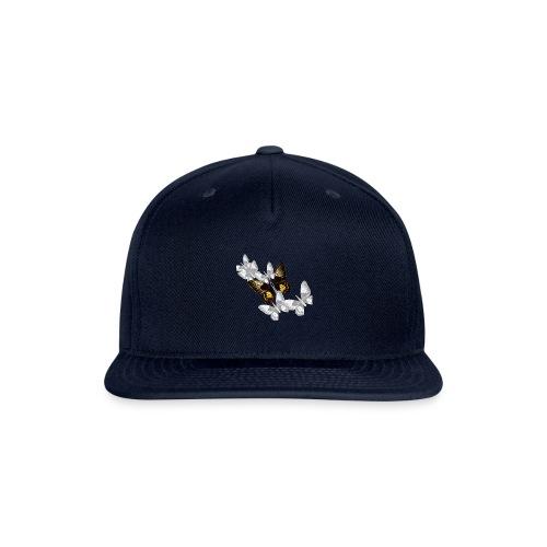 Bullet With Butterfly Wings In Flight. - Snap-back Baseball Cap