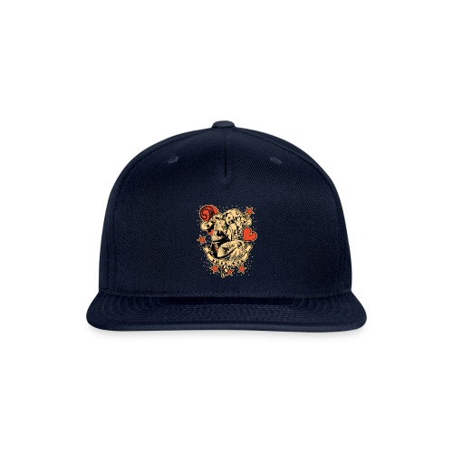 Screwed & tattooed Pin Up Zombie - Snapback Baseball Cap