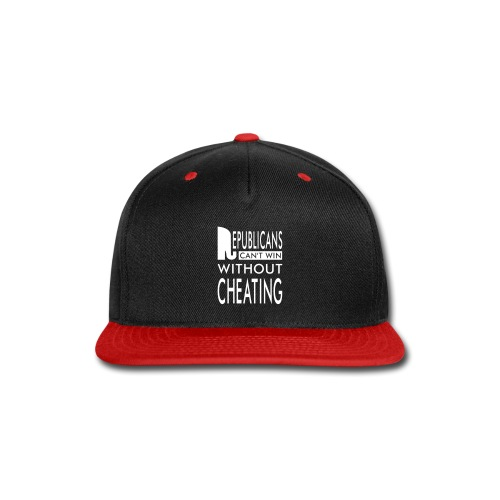 Republicans Always Cheat T-shirts - Snap-back Baseball Cap
