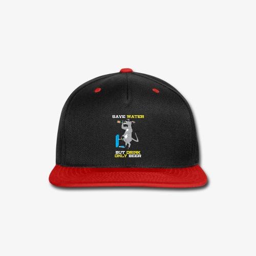 SAVE WATER - DRUNKUN DONKY - Snap-back Baseball Cap