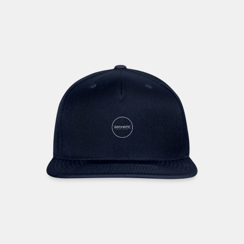 Logo Sinematic White on Black - Snapback Baseball Cap