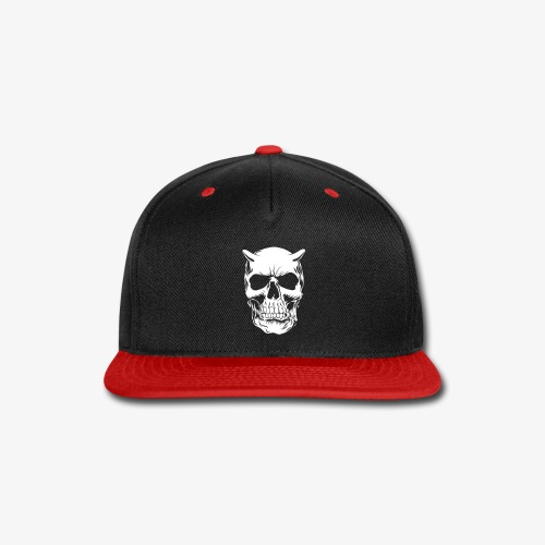Big Face skull negatif - Snap-back Baseball Cap