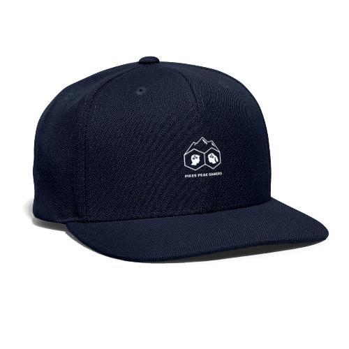 Pikes Peak Gamers Logo (Transparent White) - Snapback Baseball Cap