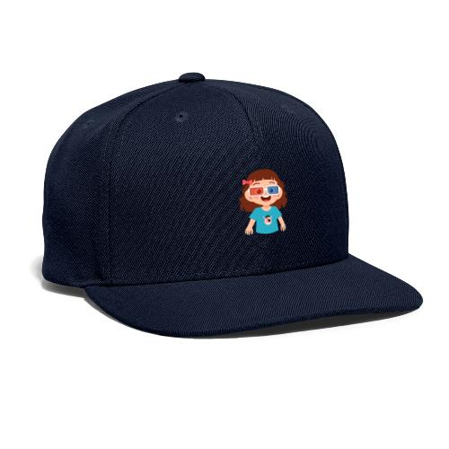 Girl red blue 3D glasses doing Vision Therapy - Snapback Baseball Cap