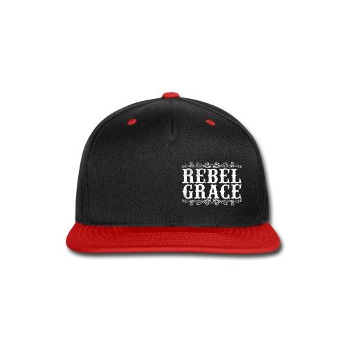 White Filigree - Snap-back Baseball Cap