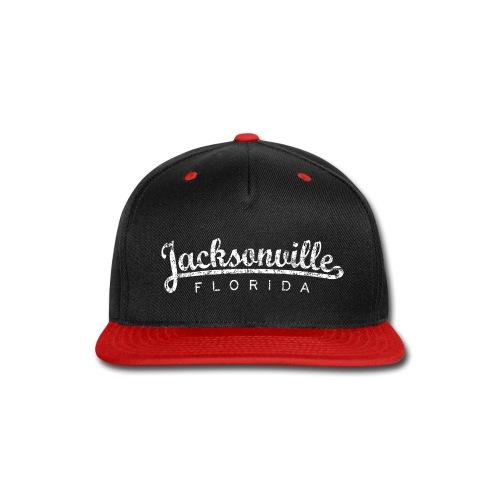 Jacksonville, Florida (Vintage White) - Snap-back Baseball Cap