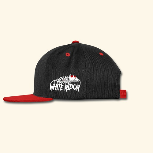 White Widow cannabis strain logo Québec Chillicio - Snap-back Baseball Cap