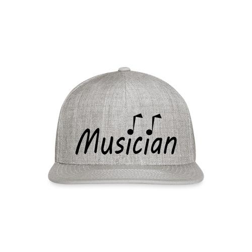 musician black - Snapback Baseball Cap